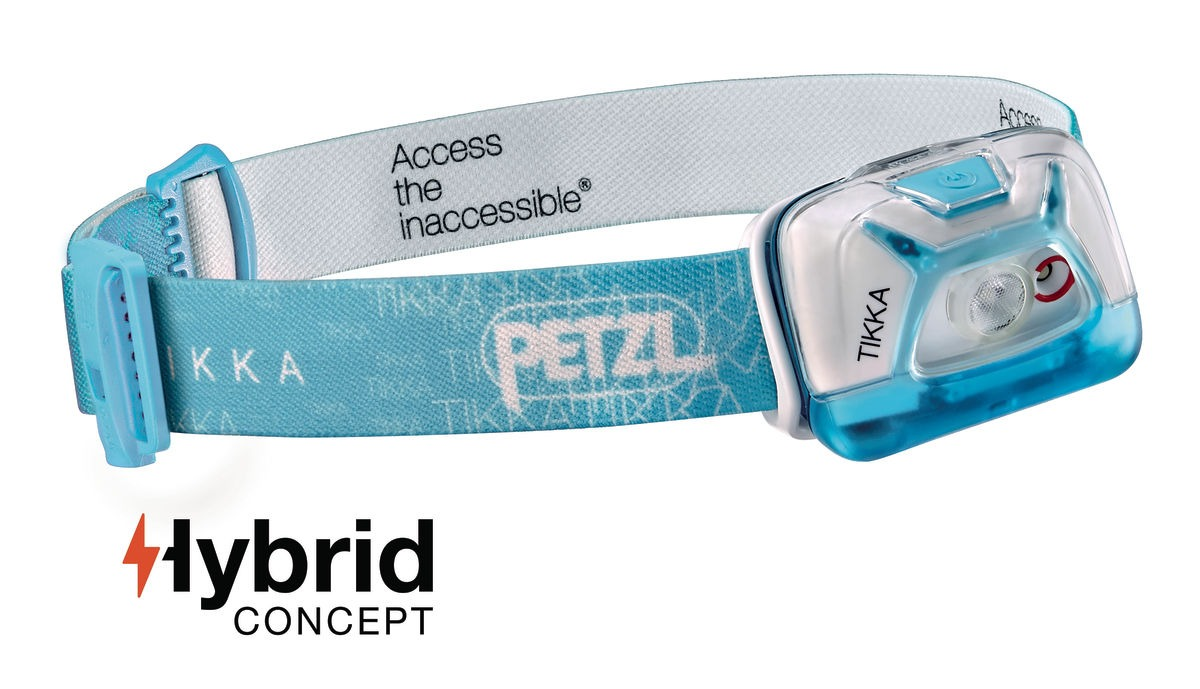 Lanterna frontala Petzl Tikka Hybrid - Albastru