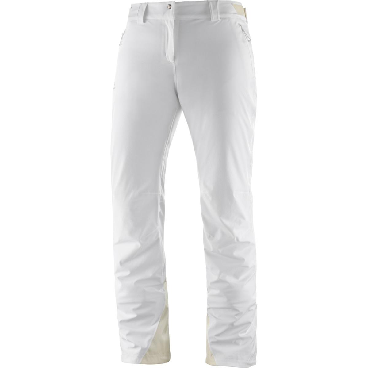 Pantaloni de ski Salomon ICEMANIA - Alb