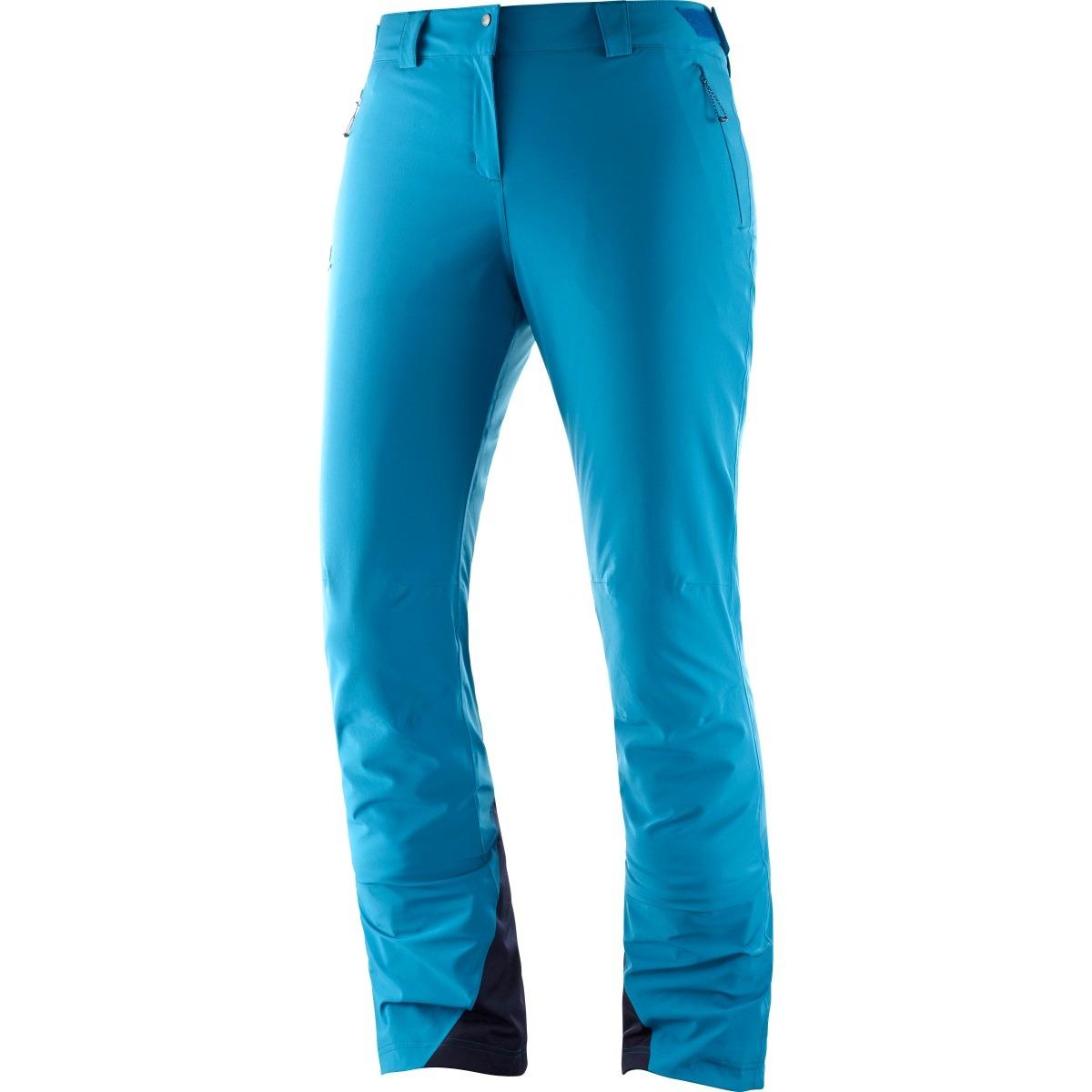 Pantaloni de ski Salomon ICEMANIA - Albastru