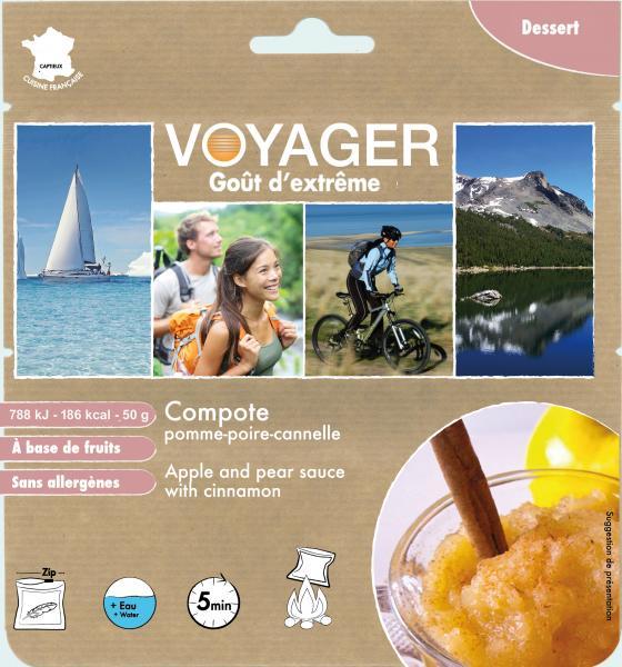Compot Voyager de mere si pere cu scortisoara (50g)