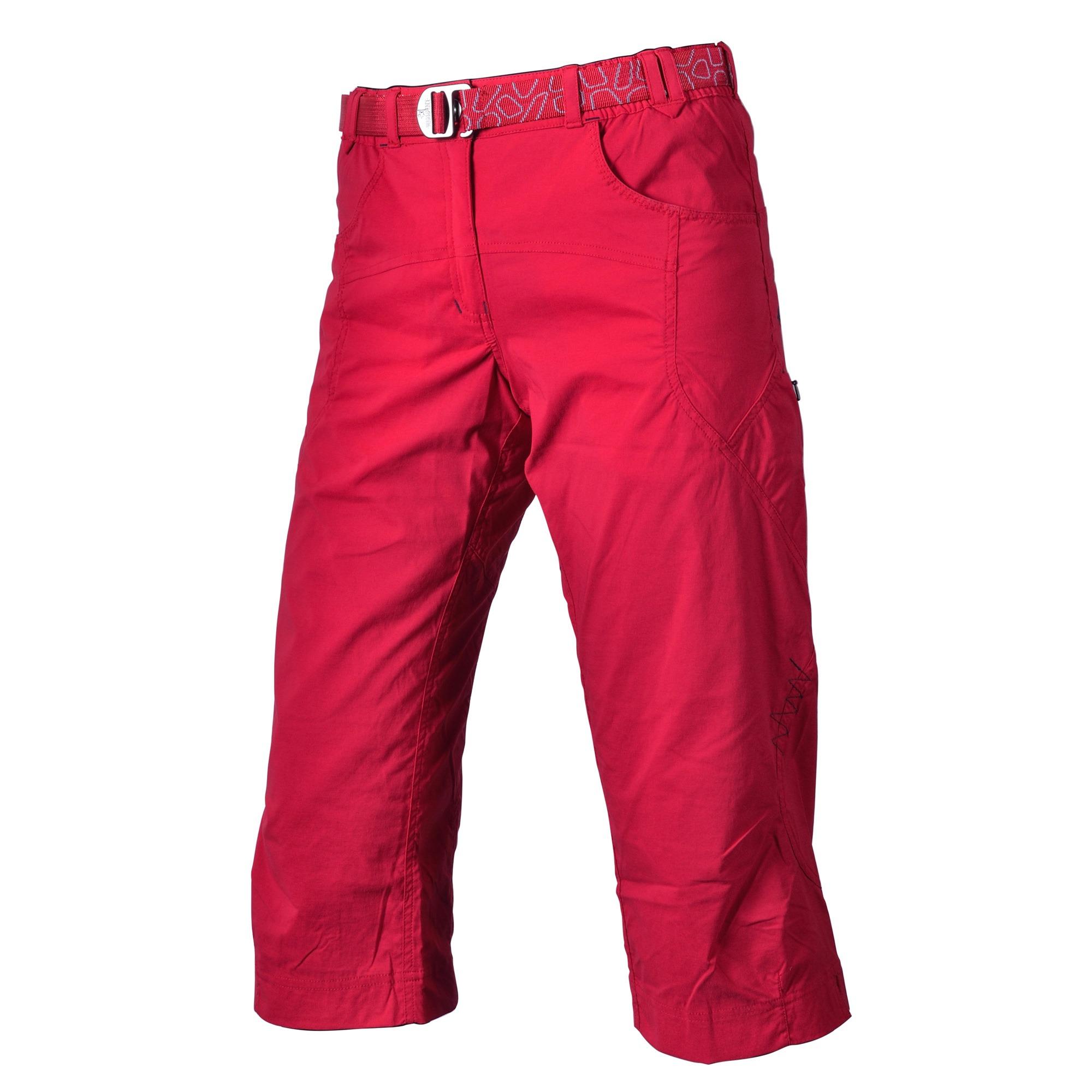 Pantaloni Warmpeace Flex 3/4 Lady - Rosu