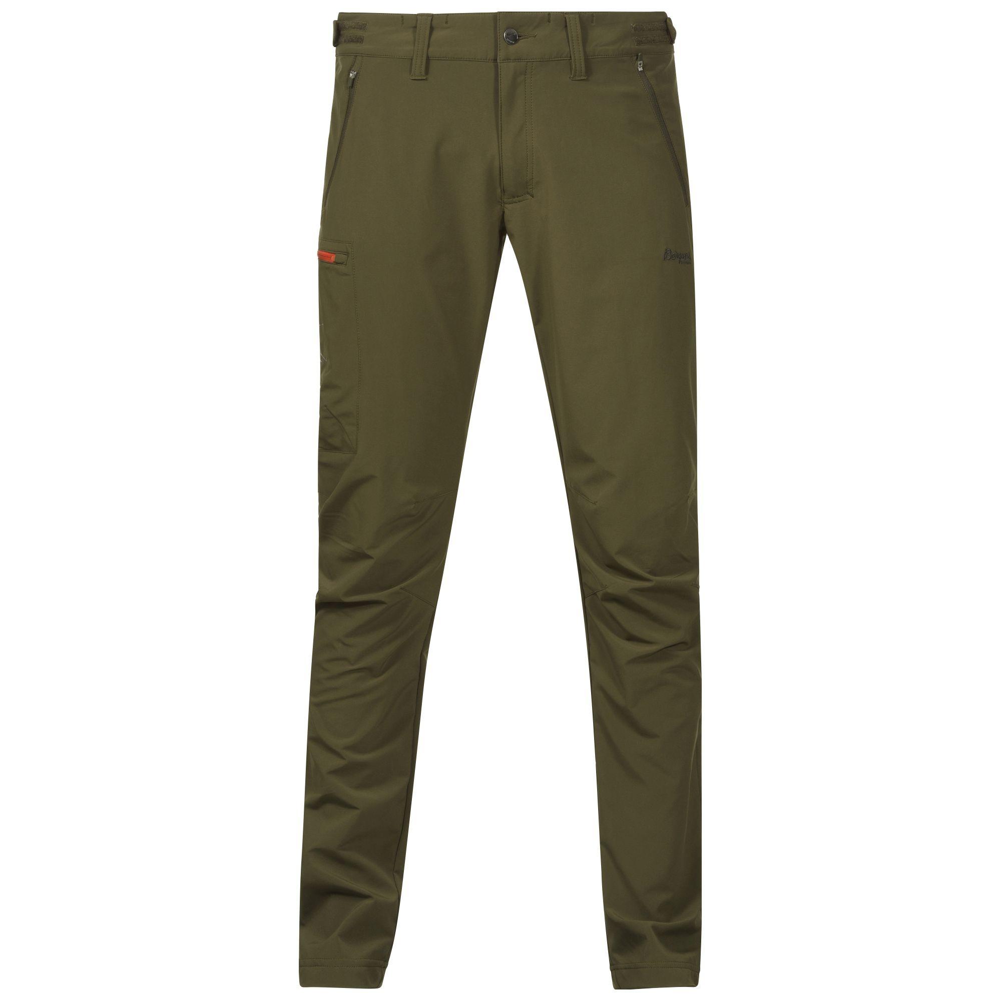 Pantaloni Softshell Bergans Torfinnstind - Verde