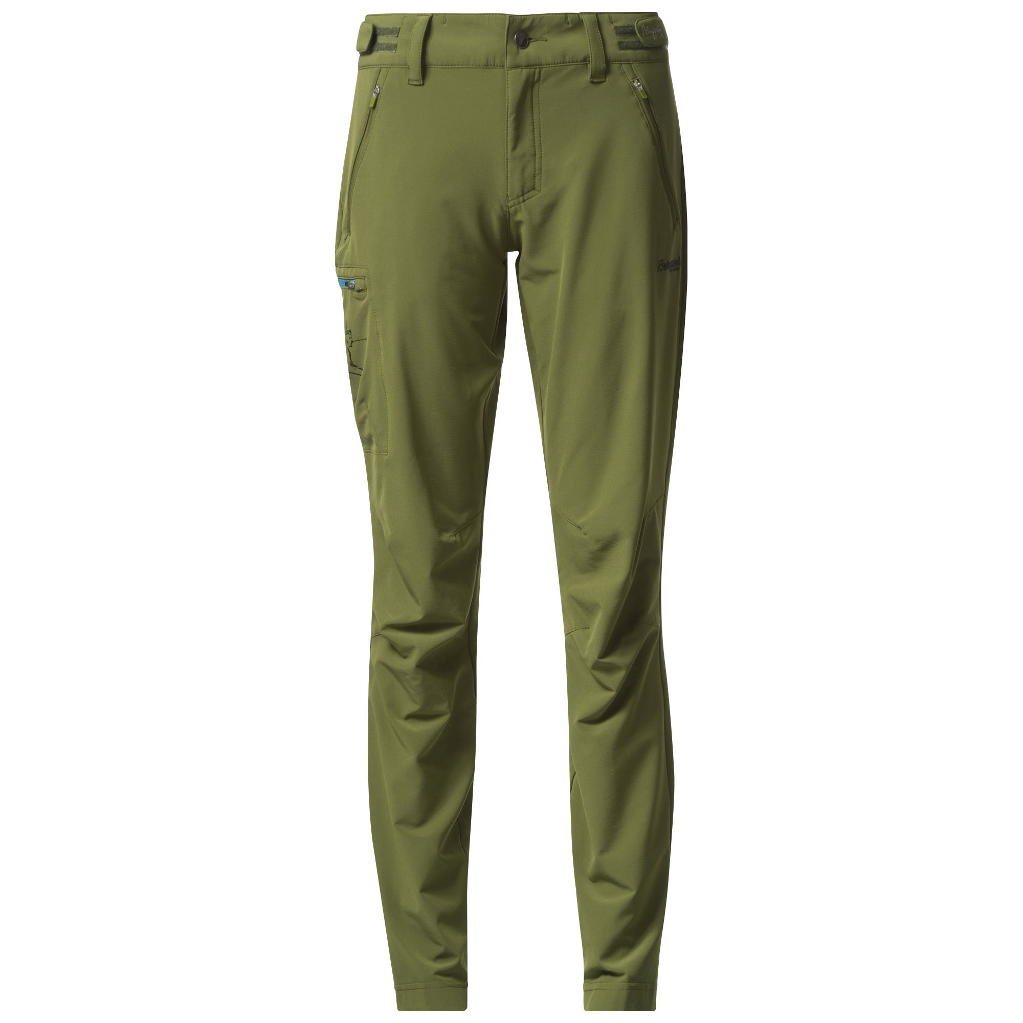 Pantaloni Softshell Bergans Torfinnstind Lady - Verde