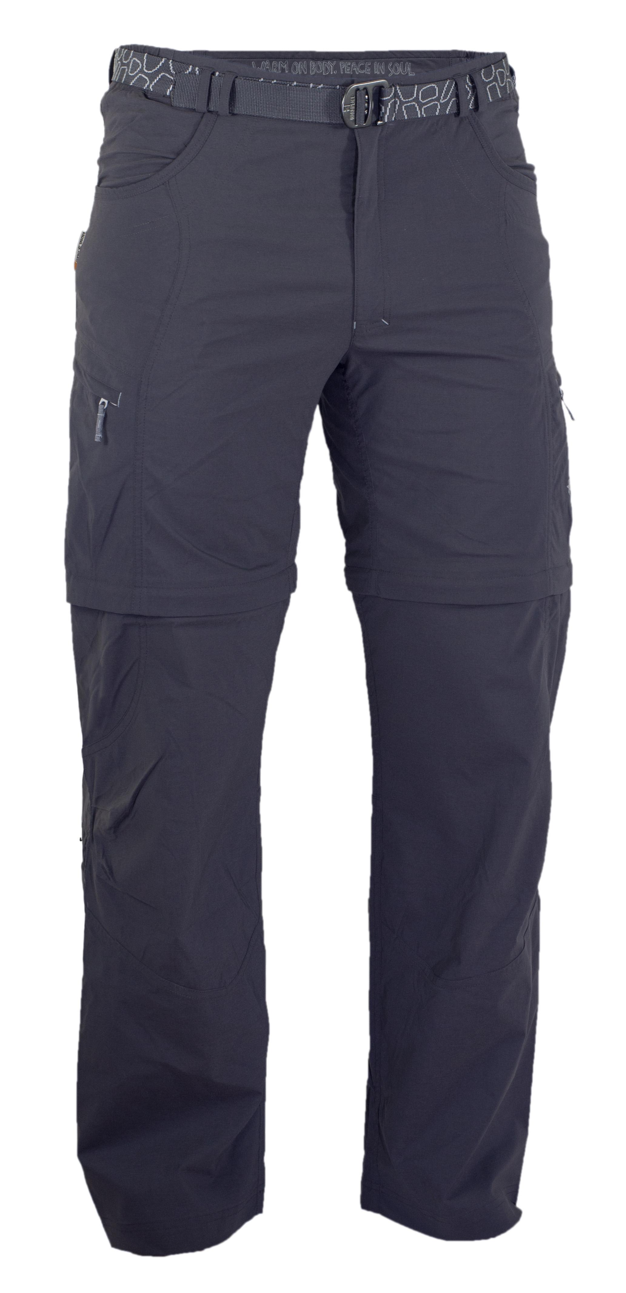 Pantaloni Warmpeace Fording Zipoff - Negru