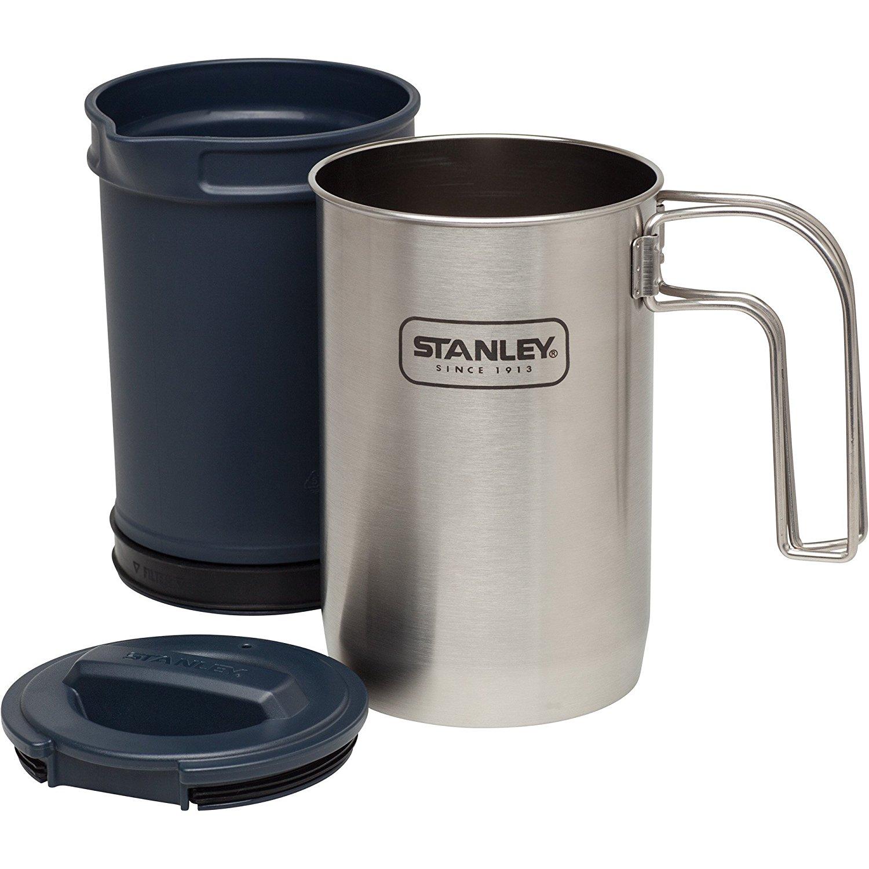 Set de vase + presa cafea Stanley Adventure Inox 950 ml - Argintiu